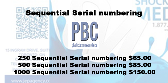 Sequential Serial numbering