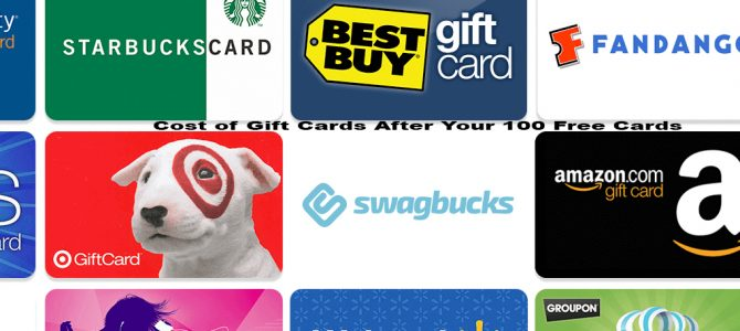 Cost of Gift Cards After Your 100 Free Cards